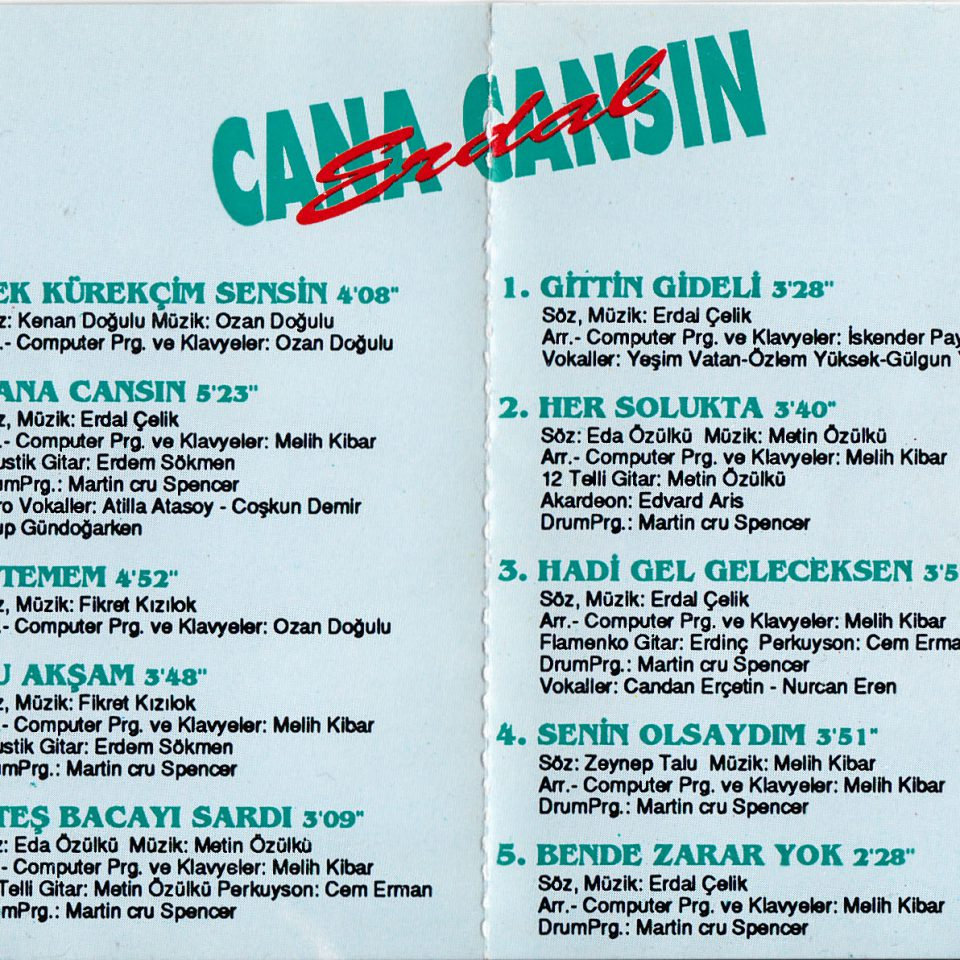 erdal çelik cana cansın albüm kapak