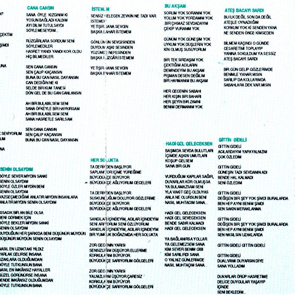 erdal çelik cana cansın albümü